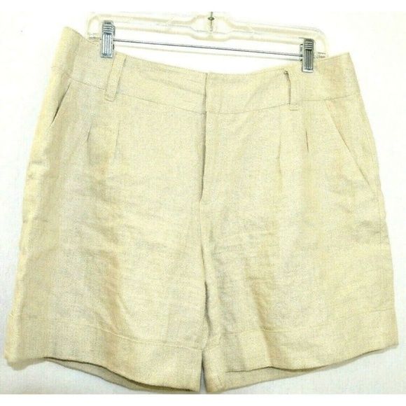 Michael Kors Pants - Michael Kors Women Shorts Linen Beige